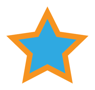 Star Icon with Borders